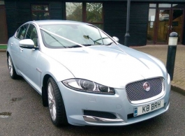 Silver Jaguar XF Type for weddings in Ashford